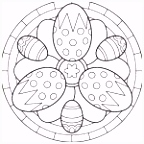 6 Kleurplaat Paasei