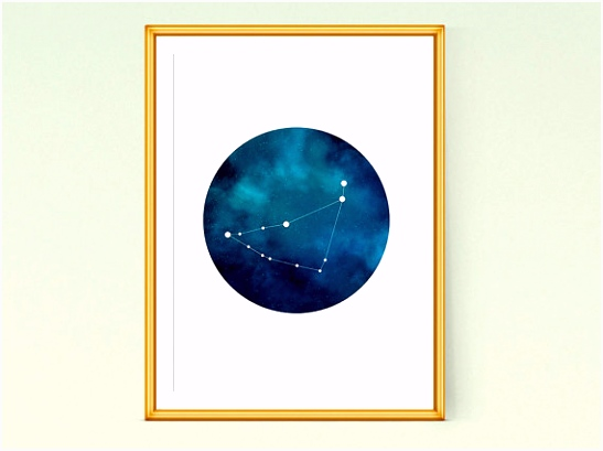 Capricorn constellation art Zodiac Capricorn Printable poster