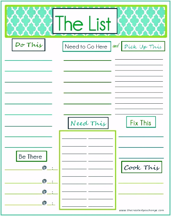 "Free Printable ""To Do"" List Home Organization"