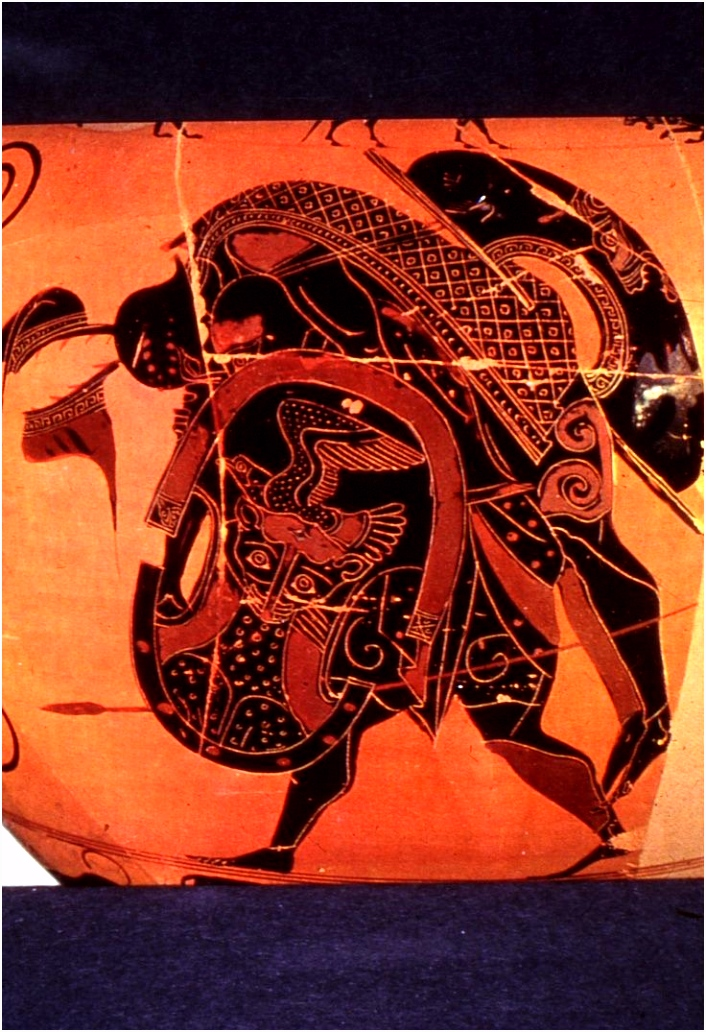 Ajax carries the body of Achilles from battle