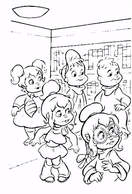 Alvin en de Chipmunks Kleurplaten
