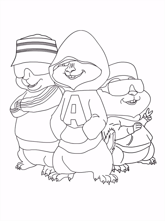 Chipmunks Colouring Book Alvin – Interframe Media