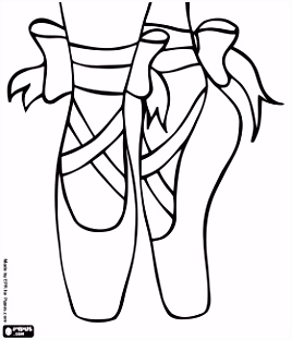 Coloring Pages Ballet Slippers