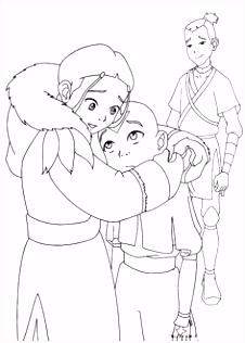 21 best Avatar The Last Airbender Coloring pages images on Pinterest
