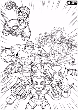 Marvel Superheroes Super Hero Squad coloring page online coloring