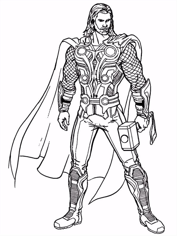 Thor Kleurplaten Uniek Desenhos De Avengers Os Vingadores Para