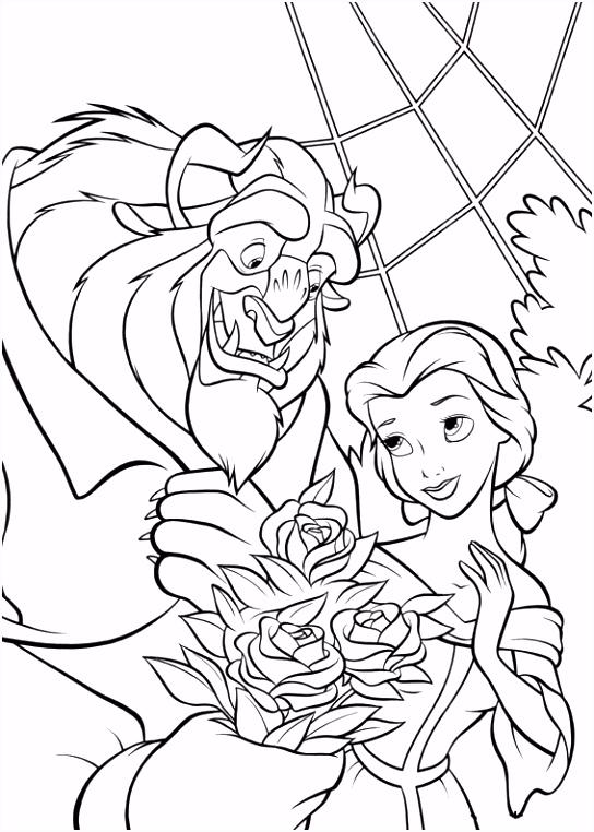 Belle en het Beest Kleurplaten 10