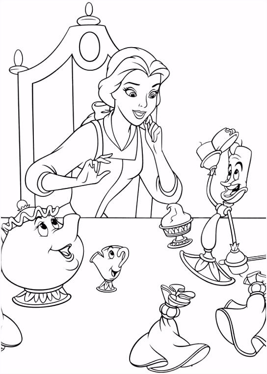 Belle en het Beest Kleurplaten voor kinderen Kleurplaat en