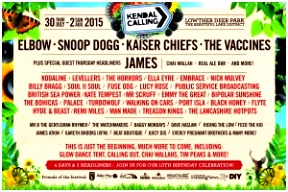 Elbow Snoop Dogg Kaiser Chiefs The Vaccines and James all