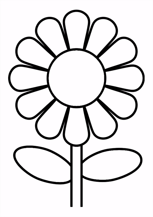 Kleurplaat bloem School BP moederdag