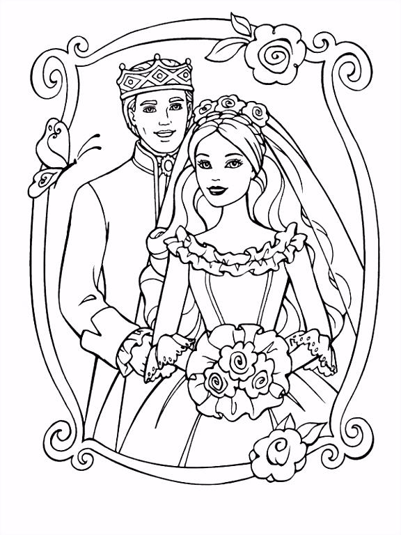 Bruiloft kleurplaten