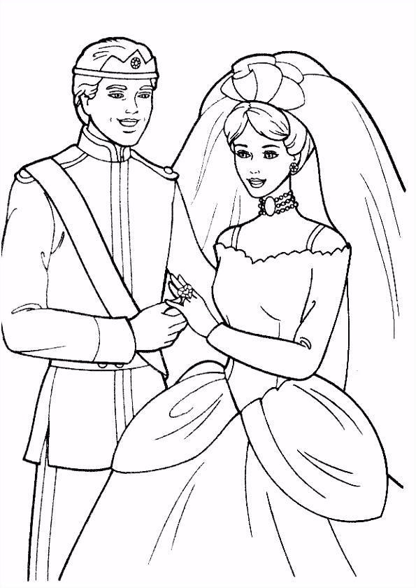 De leukste kleurplaten bruiloft