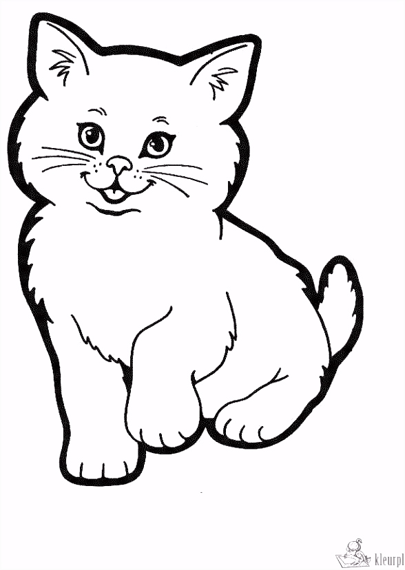 Kleurplaten katten