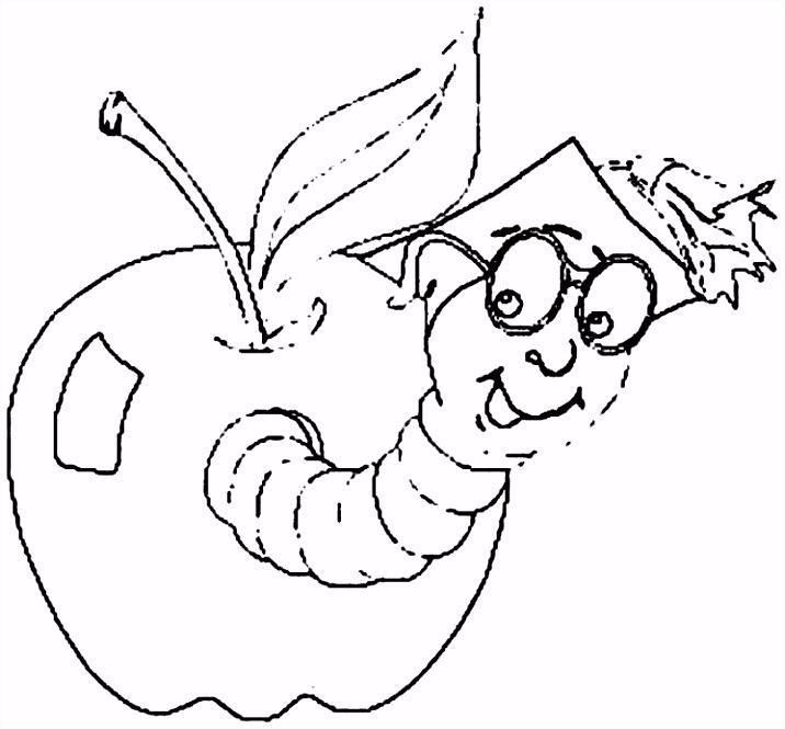 Caterpillar Keurplaat Appel Kleurplaat Kleurplaat Appel Met Worm – Noumanfo E4dl83zve5 Emudmvh4us
