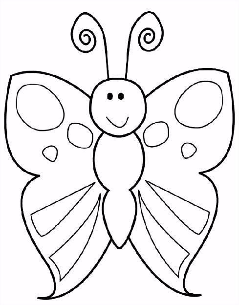 Kleurplaat vlinder beestjes Pinterest