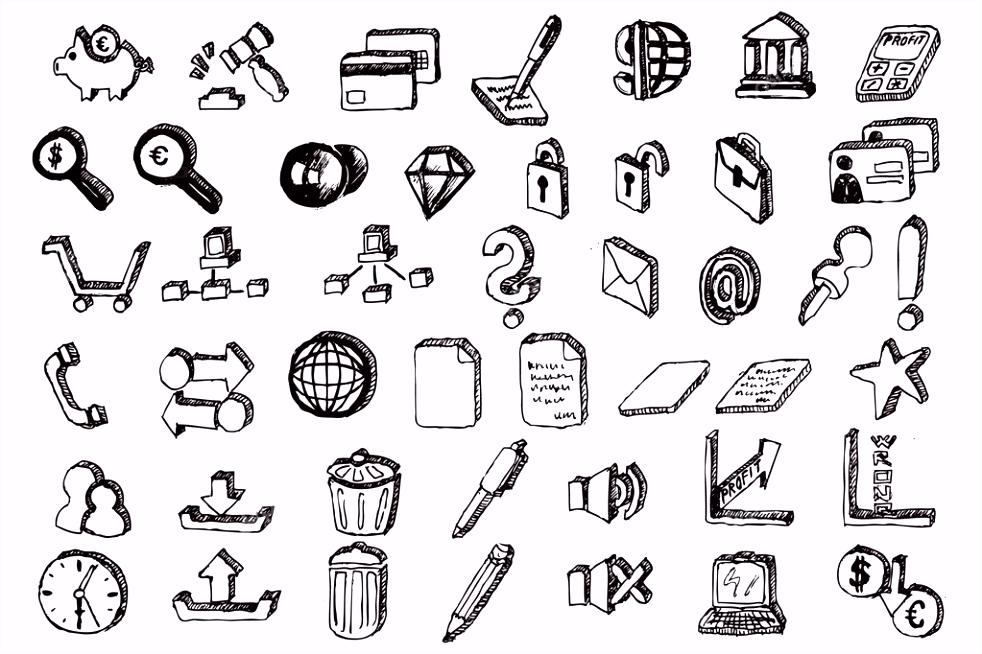 hand tekenen mededeling elementen — Stockvector © marcus55