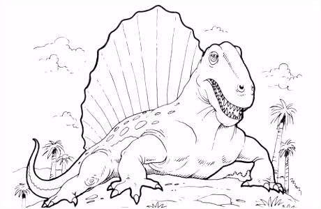 Dimetrodon kleurplaat