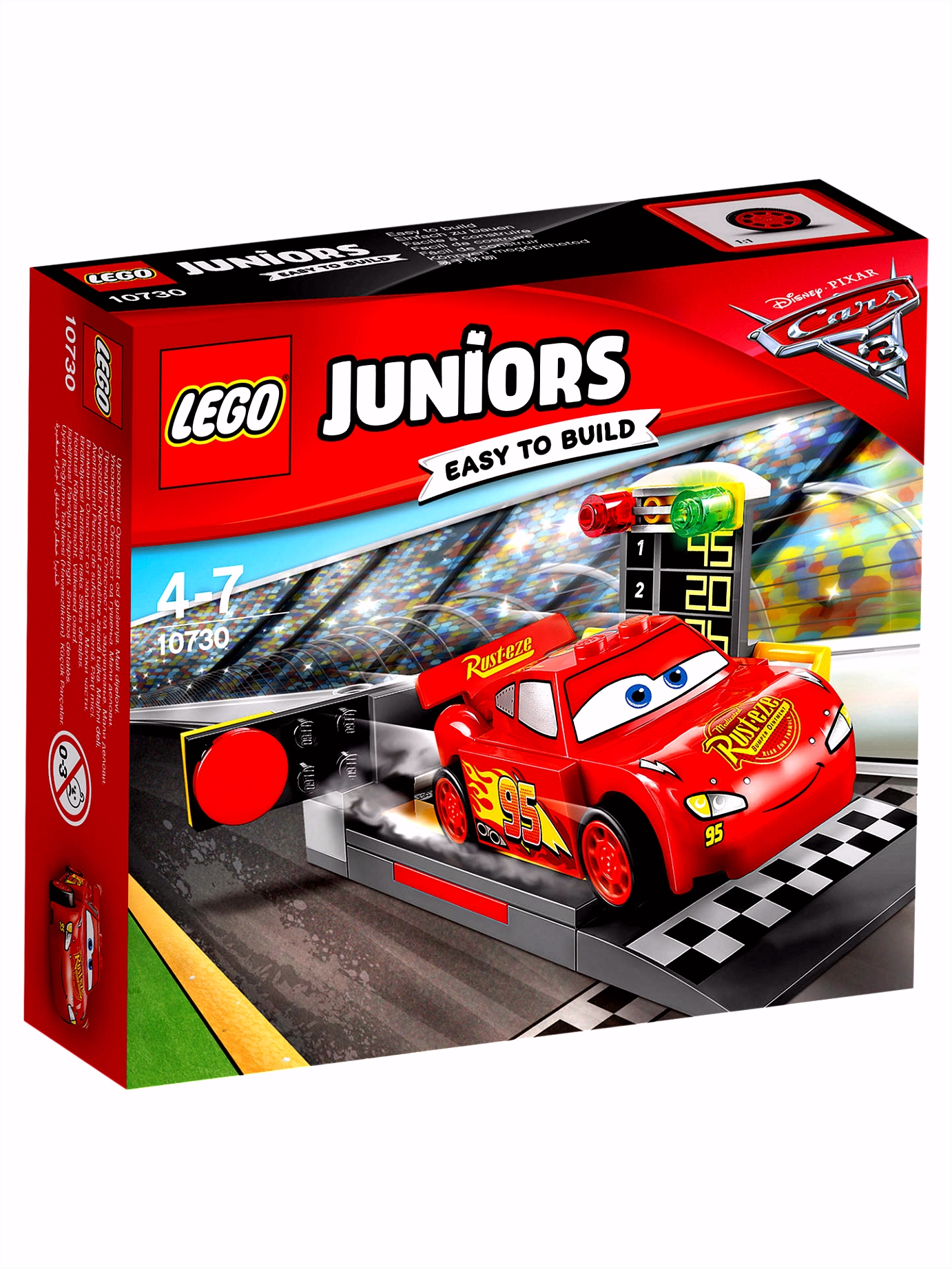 LEGO Juniors Disney Pixar Cars 3 Lightning McQueen Speed
