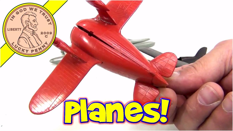 Vintage Lot of Plastic Planes 3 Planes BI Plane Sea Plane