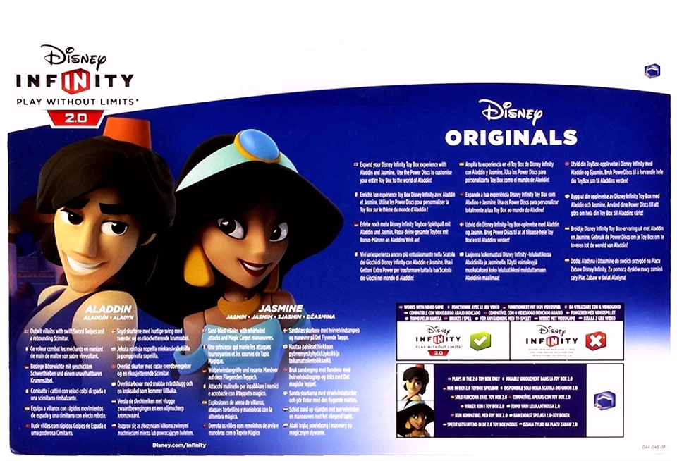 Disney Infinity 2 0 Aladdin & Jasmine Toy Box Playset P