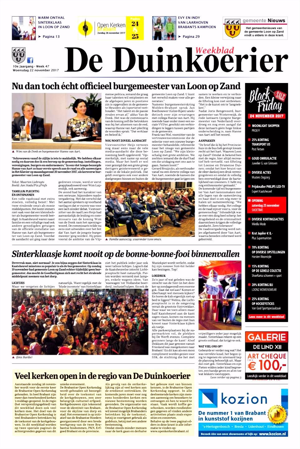 De Duinkoerier 22 11 2017 by Uitgeverij Em de Jong issuu