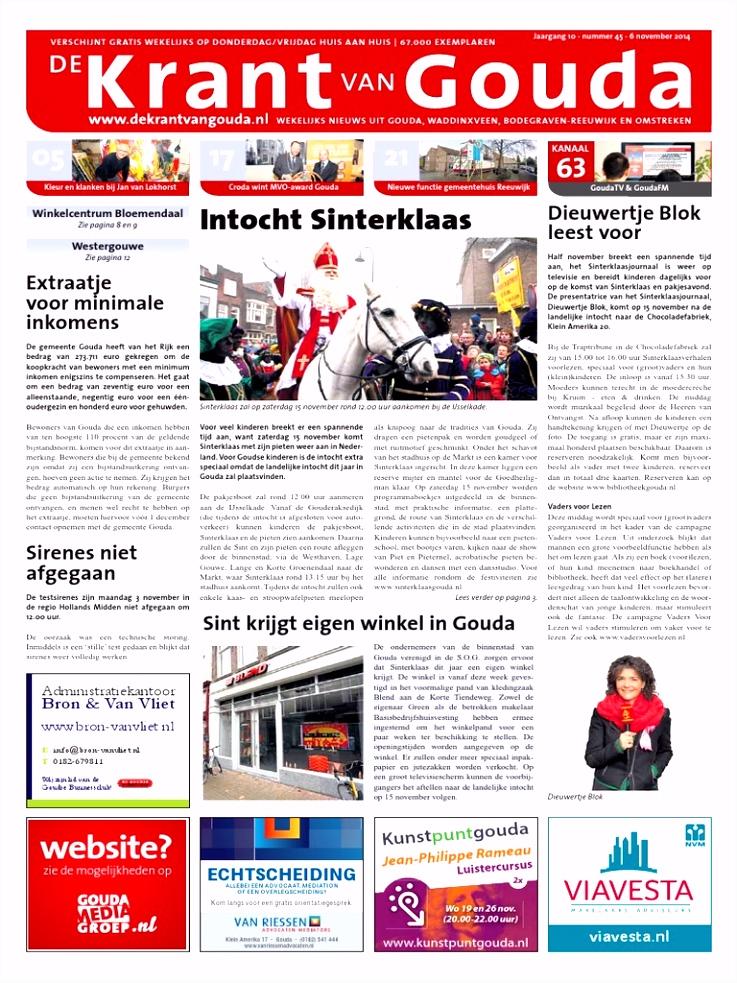 De Krant van Gouda 6 November 2014