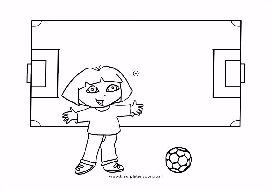 Voetbal Kleurplaten Dora Kleurplaten voor jou