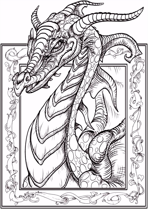 Download Dragon Coloring Page Kleurplaten Pinterest