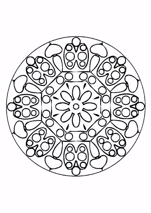 Kleurplaat Mandala 7218