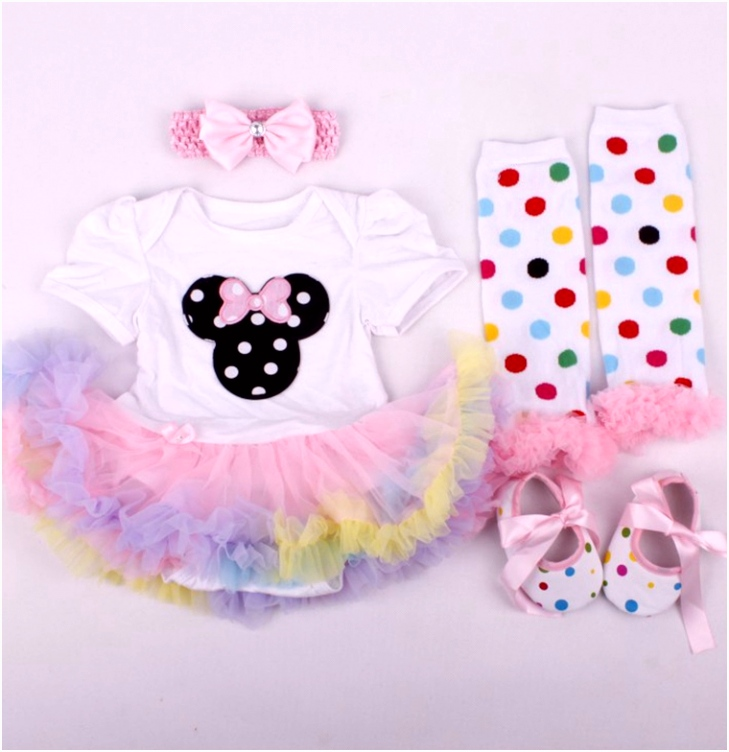 ᑎ‰Childhood Fantasy Minnie Infant Dress Romper Lace Tutu Summer
