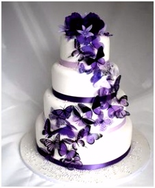 70 best Cakes Purple and White images on Pinterest