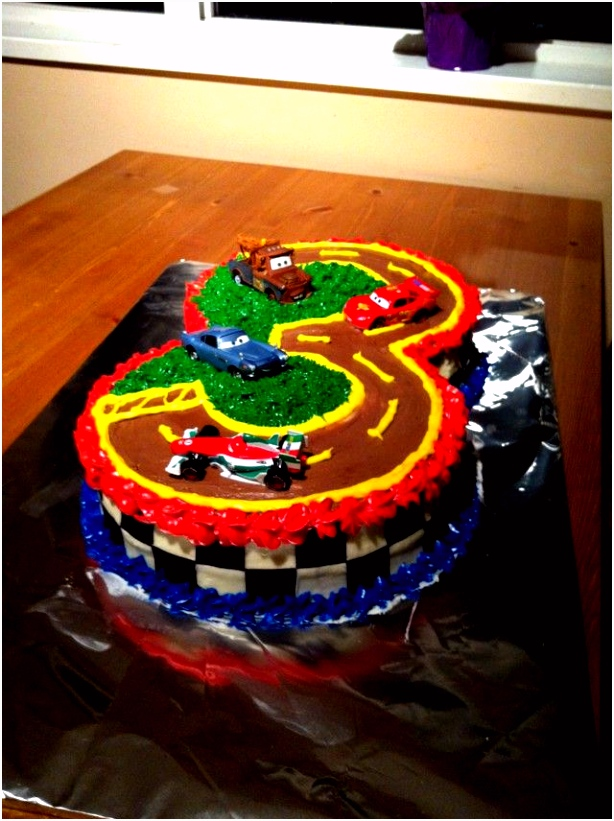 Lightening McQueen Cake for my son s 3rd Birthday