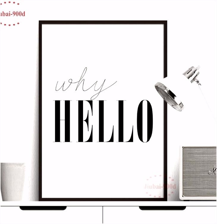 Koppel Sieraden Nuttige Waarom Hello Citaat Canvaskunst Schilderen