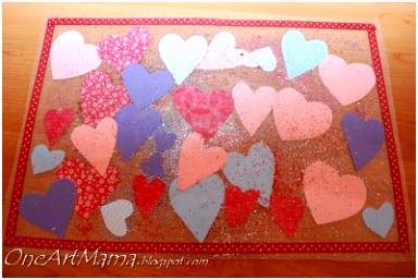 Contact Paper placemat craft via e Artsy Mama
