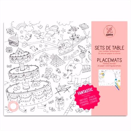 Placemats als kleurplaat