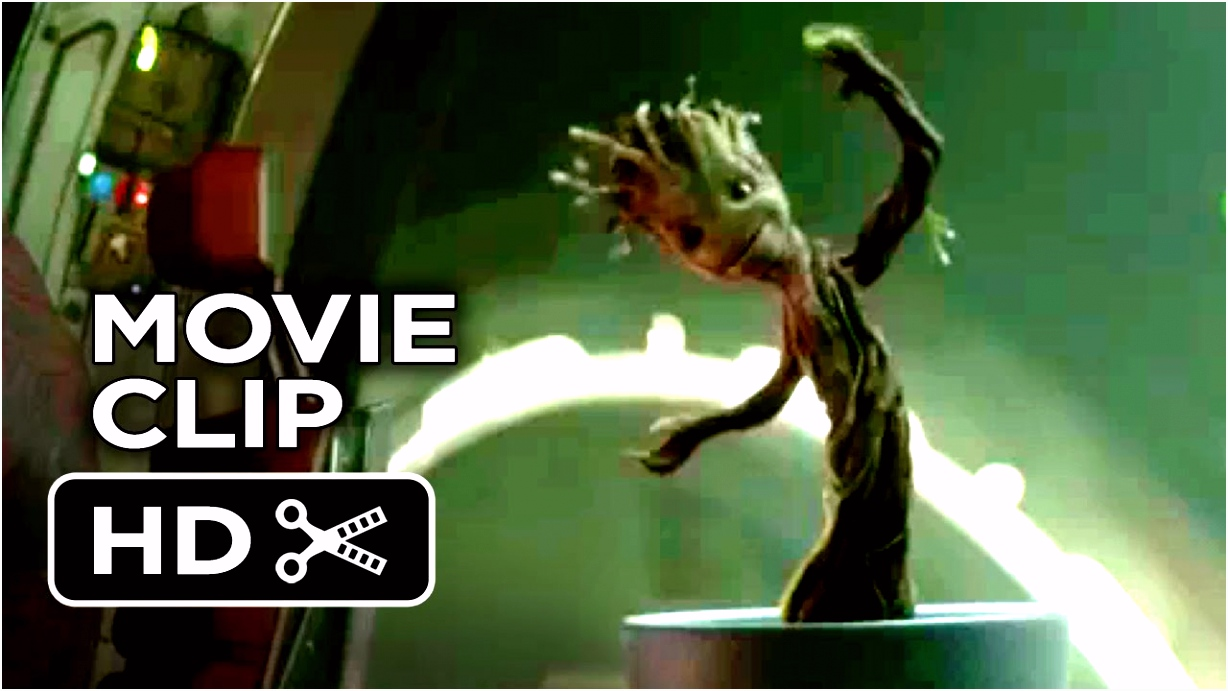 Guardians of the Galaxy Movie CLIP Dancing Baby Groot 2014 Vin