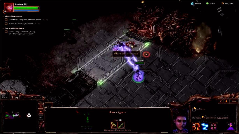 StarCraft 2 Heart of the Swarm Walkthrough Char Part 2 Fire