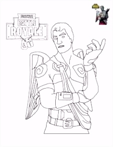 Coloriage Fortnite Battle Royale personnage 4   imprimer