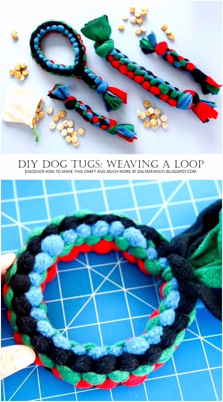 DIY for Dogs Square Knot Fleece Loop Tug Toy