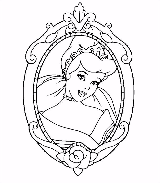 Kleurplaten Disney Prinsessen Assepoester ARCHIDEV