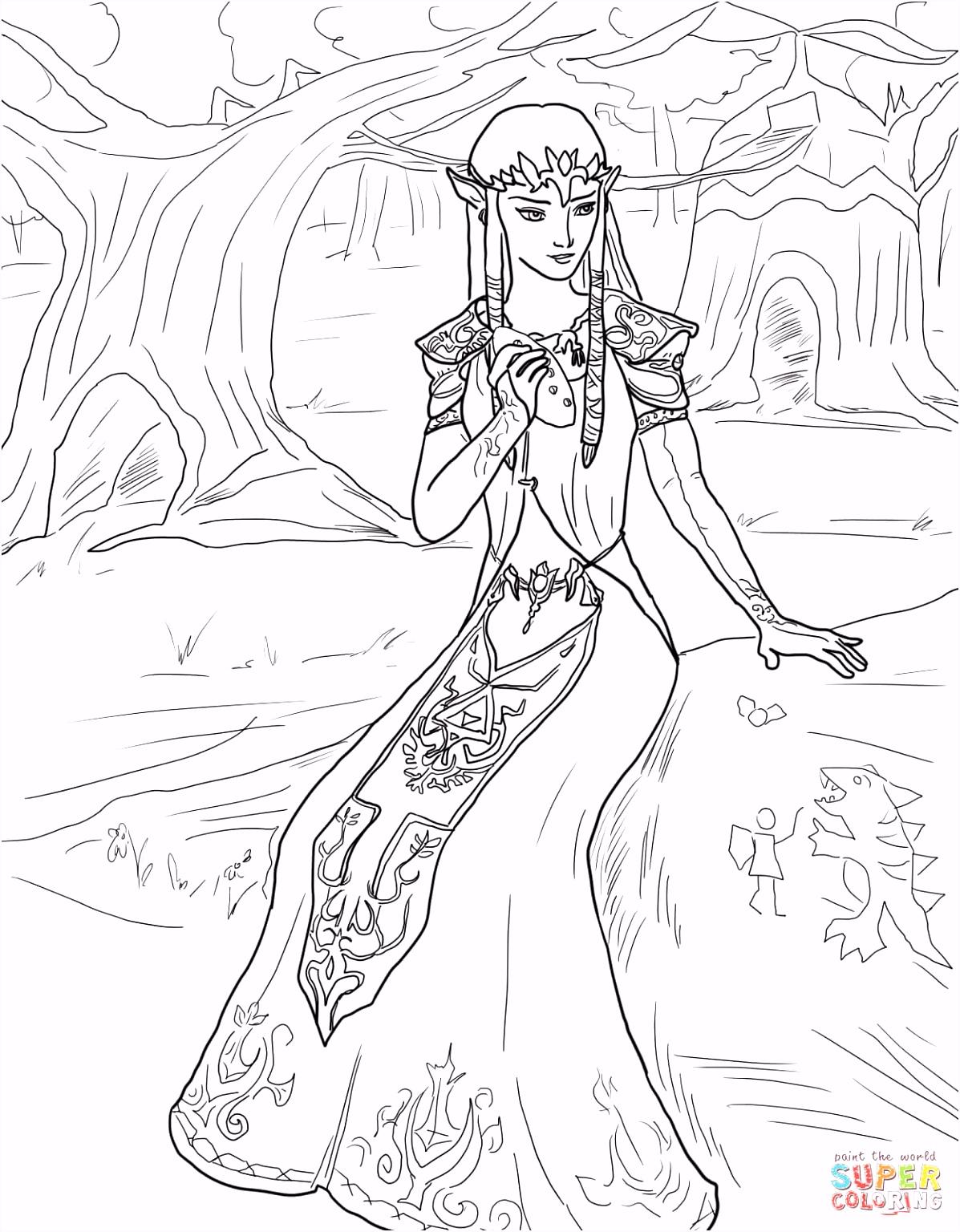 Prinses Zelda kleurplaat