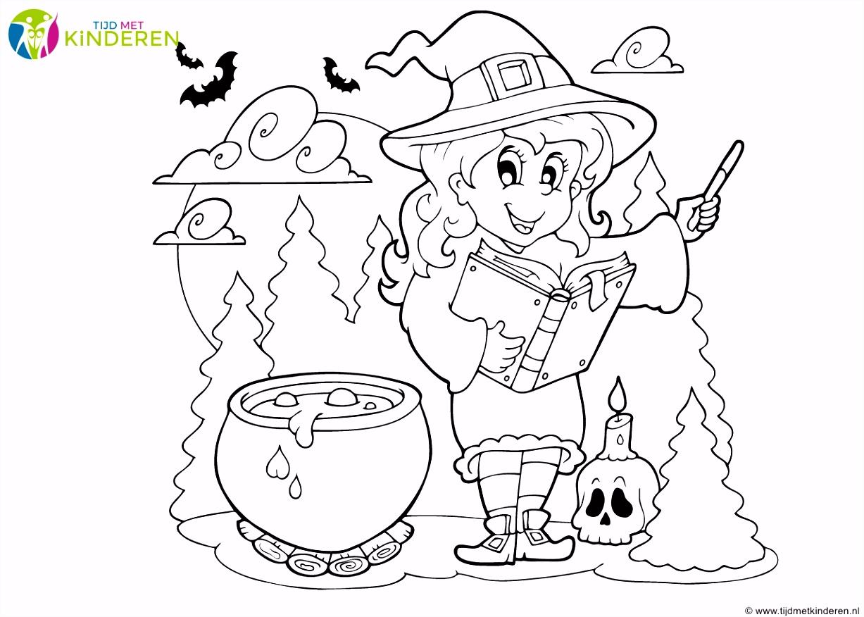 Halloween Kleurplaten Eenvoudig 34 Spannende Halloween Kleurplaten