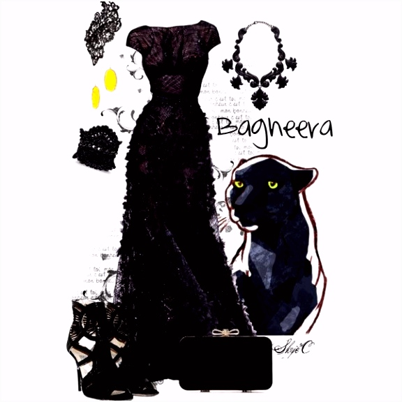 Bagheera Evening Outfit Satinee Gown Disney s the Jungle Book in