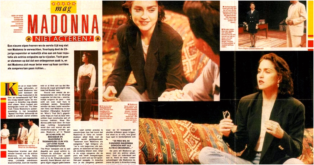 Madonna Clippings Collection Pop Foto 1988 Netherland