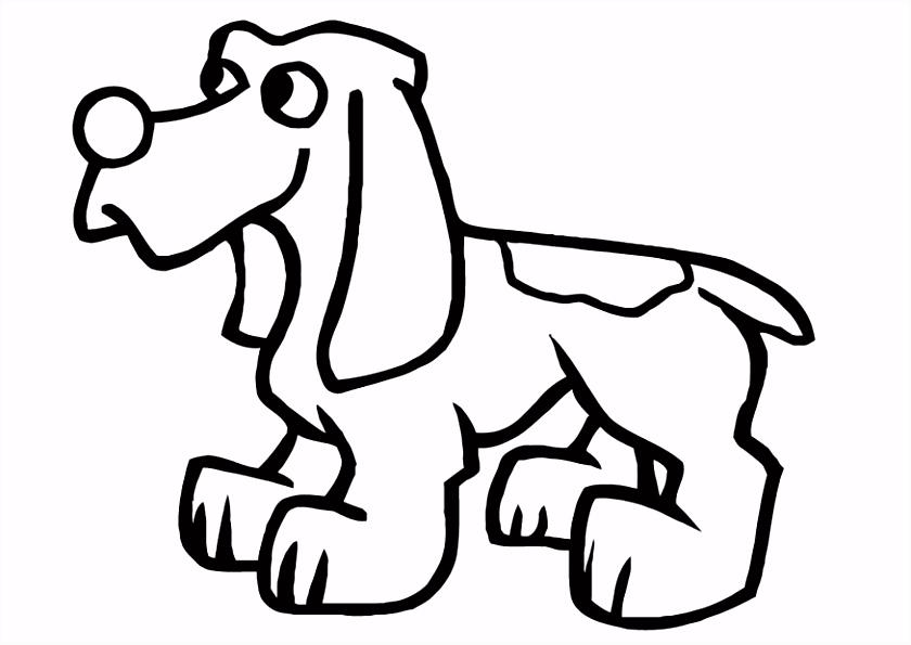 Kleurplaat hond Afb