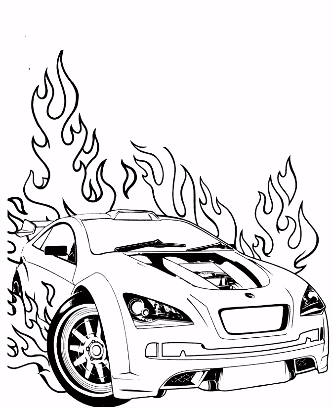 Hot Wheels Drawing