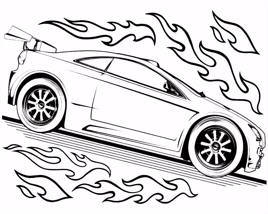 Hot Wheels Track Race Two Car Hot Wheels Coloring Page Speed