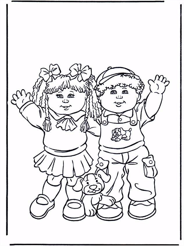 Meisje en jongen Kleurplaat kinderen