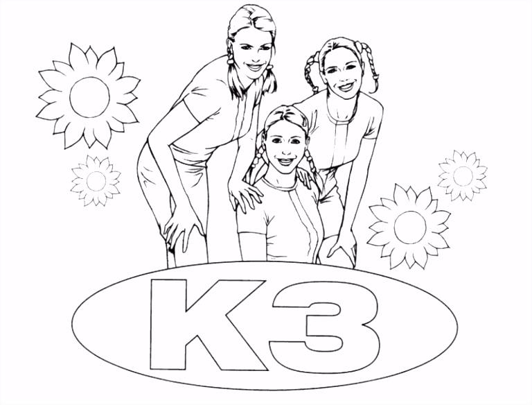 K3 – Gratis Kleurplaten