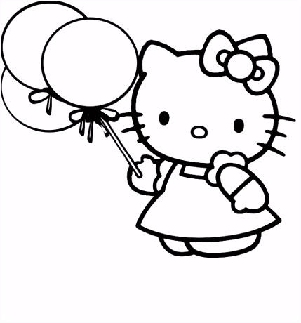 Er is een feestje bij Kitty kleurplaat